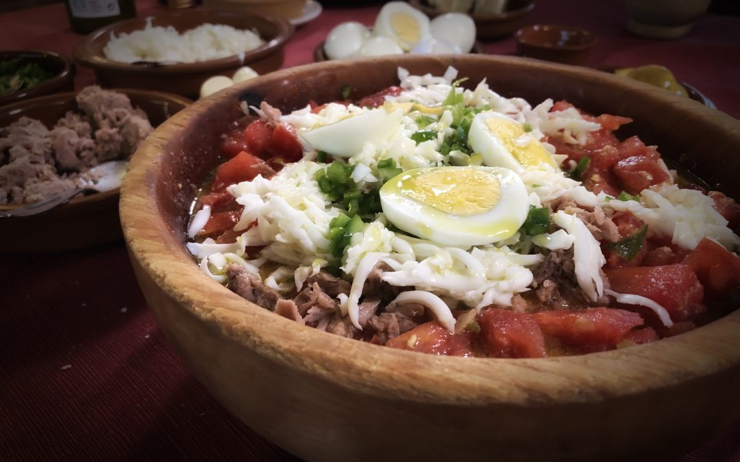 Pipirrana, plato estrella del Restaurante Alambique